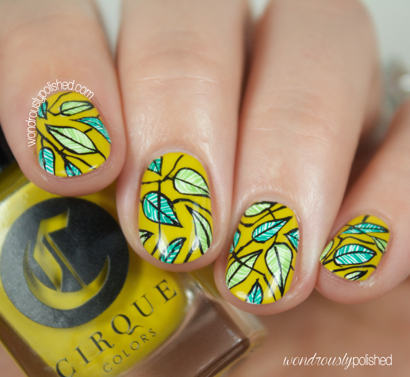 Wondrously Polished: Intricate Leaves - Nail Art & Video