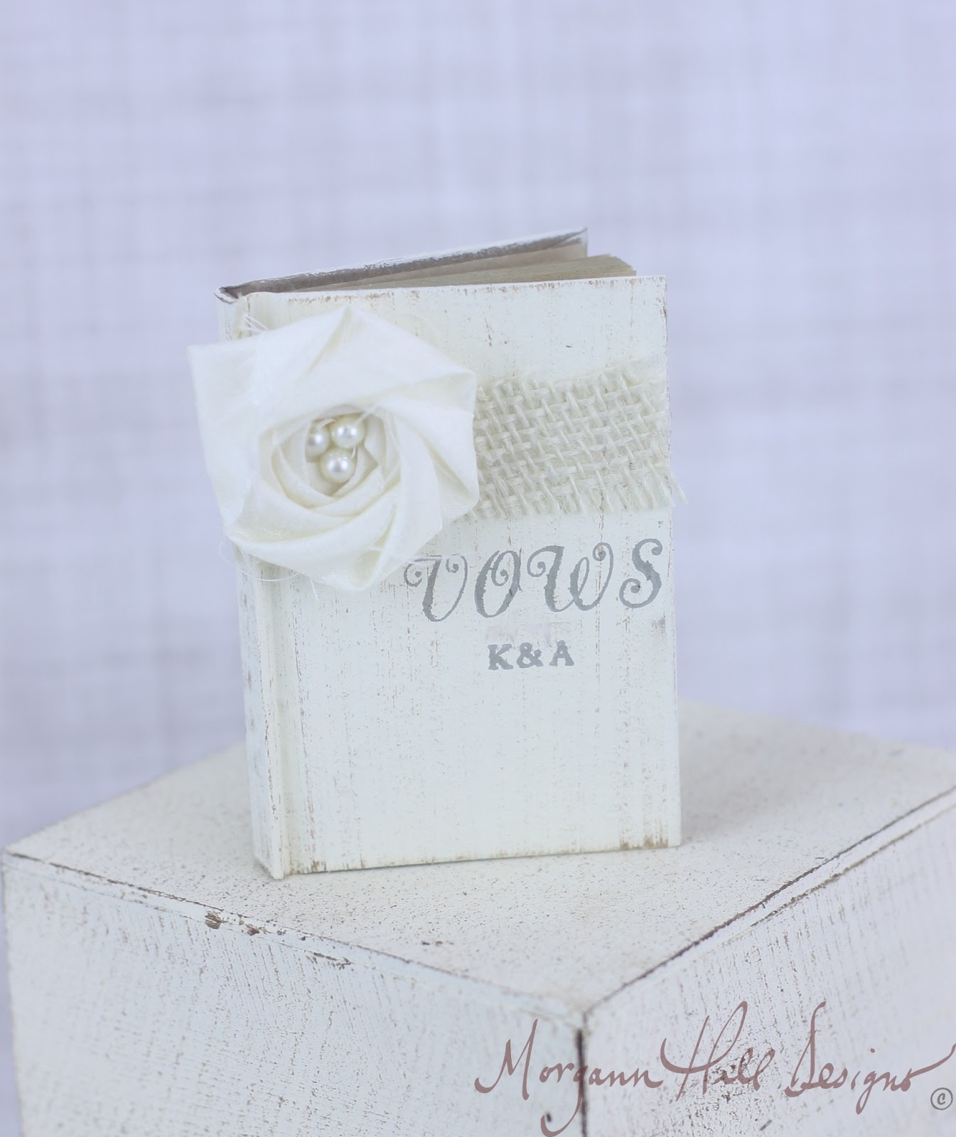 Morgann Hill Designs: Personalized Wedding Vows Book Rustic Chic ...