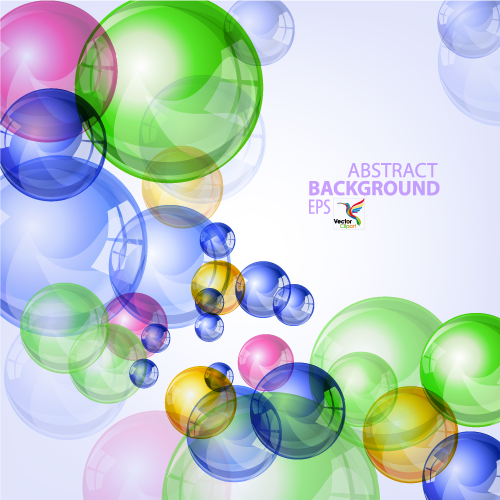 Fondo de burbujas multicolores - Vector