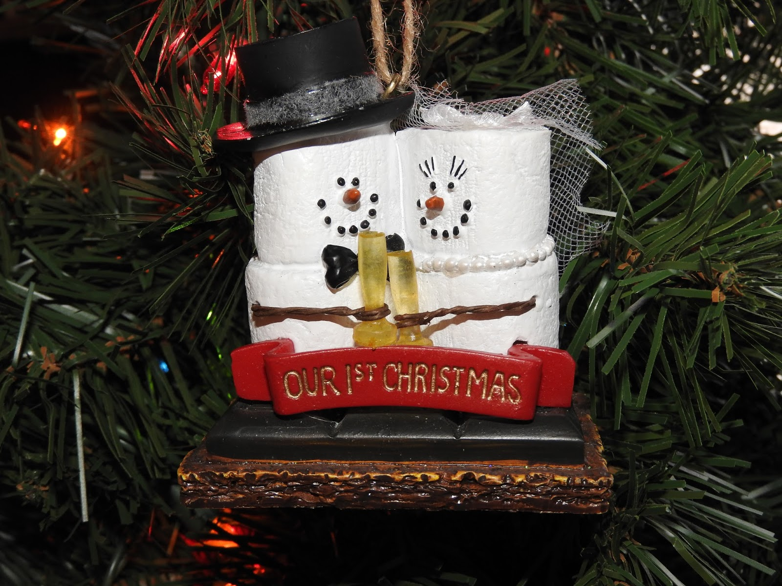 S mores ornaments - Mike Gave Me This Ornament Last Week When I Had Had A Rough Day Yes That Is A Newly Married Couple As A S More There Is Nothing I Love More Than S Mores