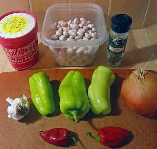 Beans, Peppers, Chili Powder, Garlic, Onion, Cumin Seeds