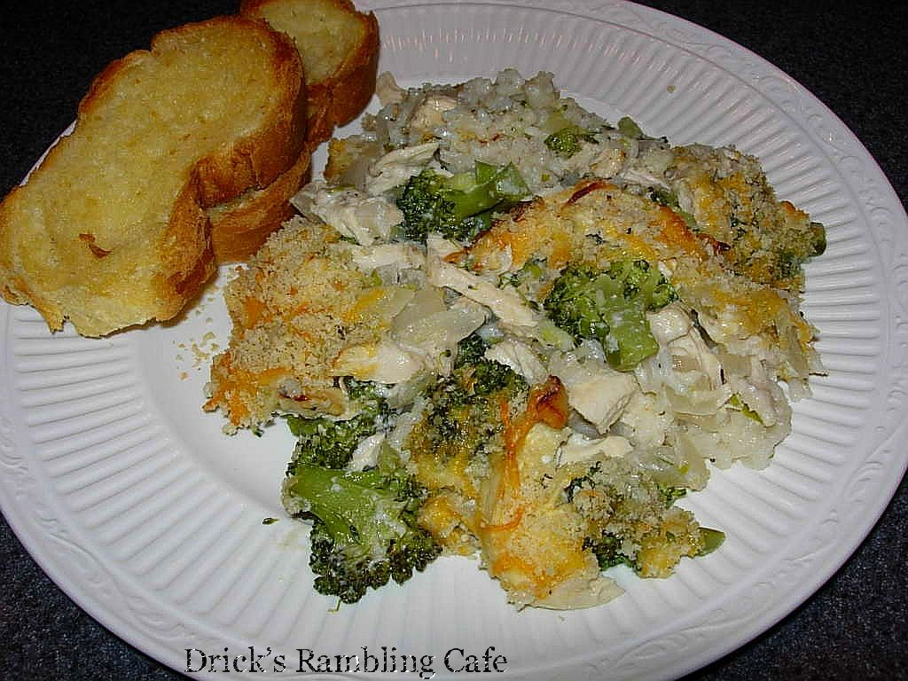 Creamy Chicken Divan over Rice Casserole « Drick's Cafe.