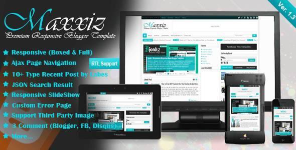 Maxxiz - Responsive Magazine/News Blogger Template - Blogging
