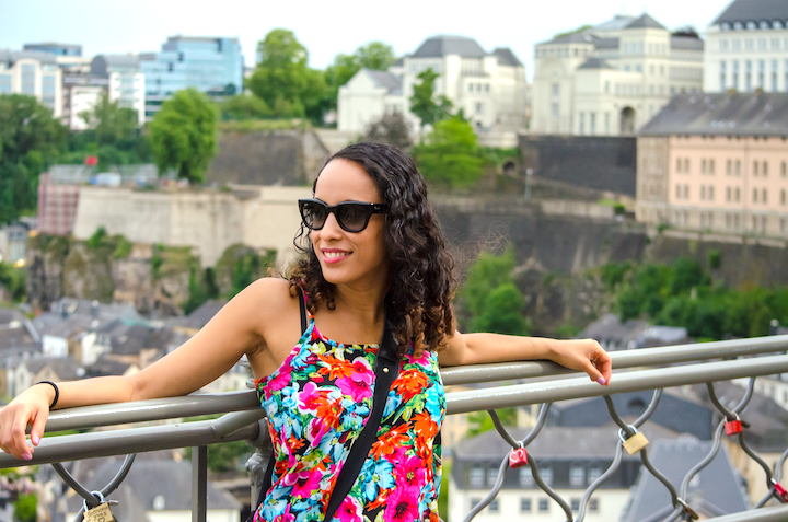 Walking around Luxembourg in florals