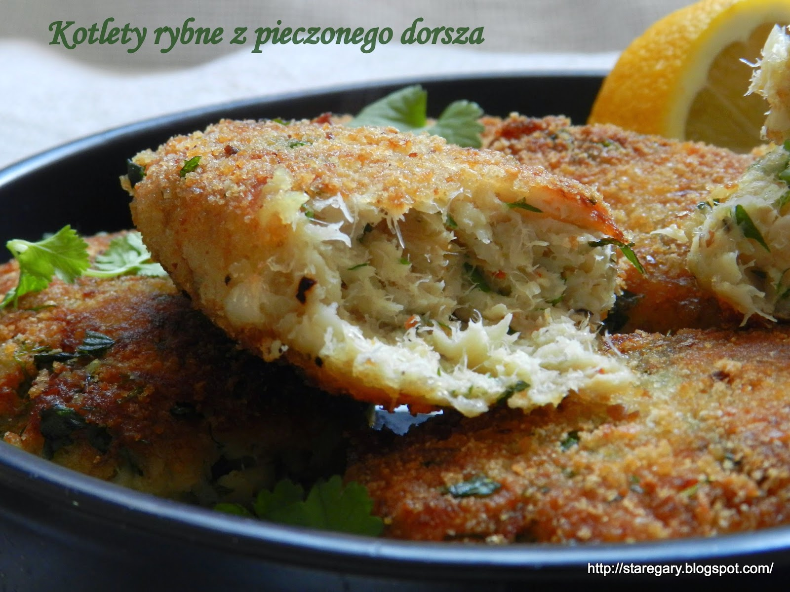 Kotlety rybne z pieczonego dorsza