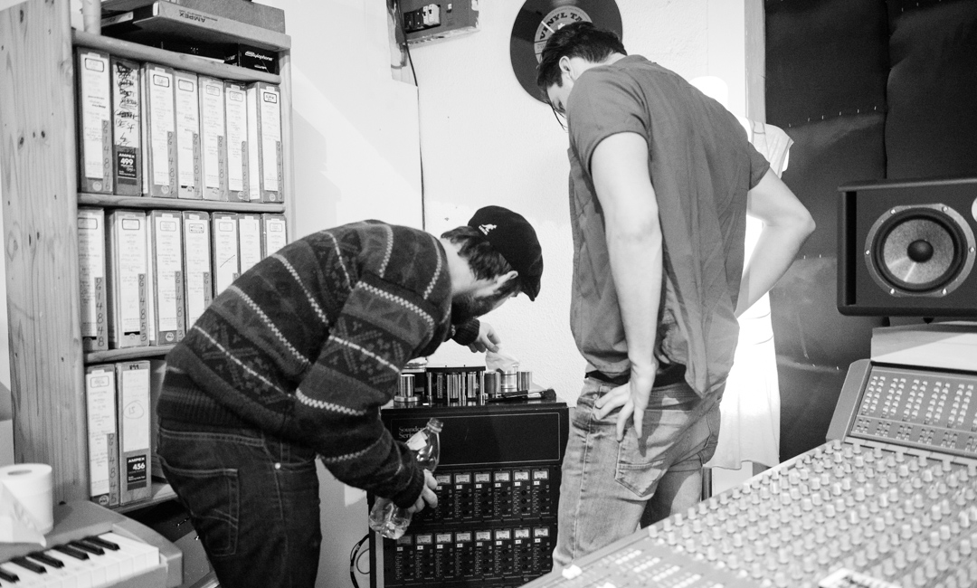 "Birmingham recording studio Park Studios JQ | teaching how to care for the 2"" tape machine"