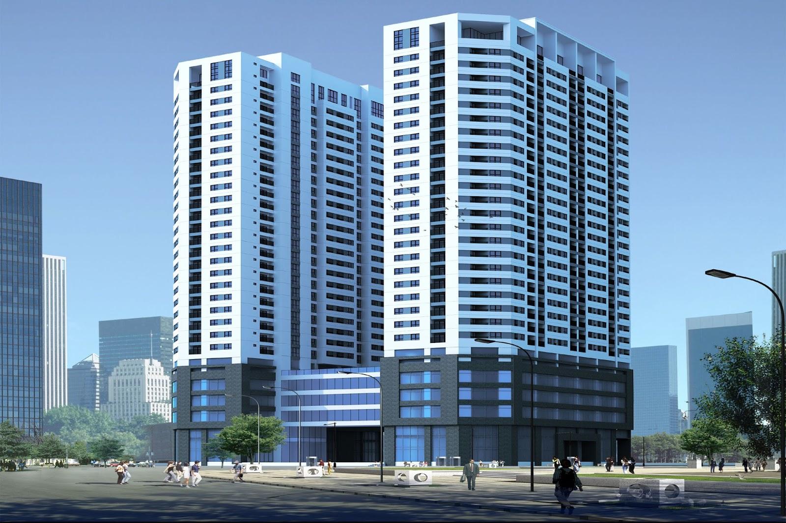 Phối cảnh chung cư South Tower