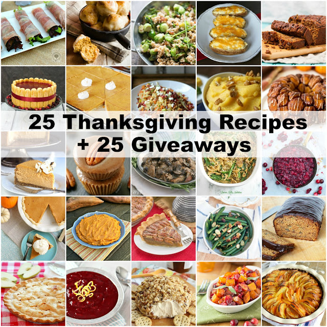 25 Thanksgiving Recipes + 25 Giveaways