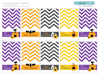 Free Halloween Chevron Printables