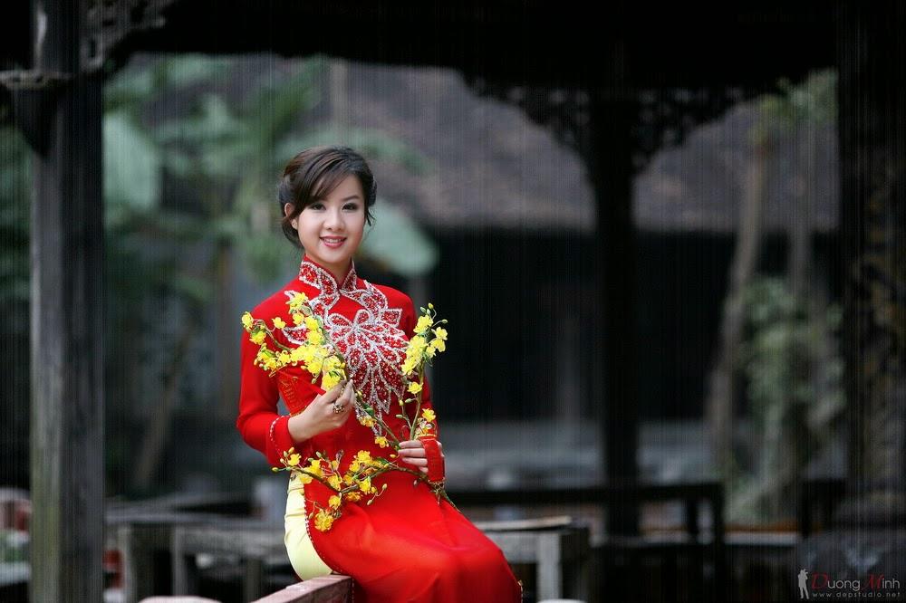 Ảnh đẹp girl xinh Áo dài truyền thống Việt Nam - Ảnh 05