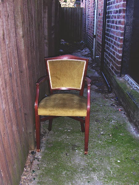abandoned chair, urban photography, contemporary, photo,