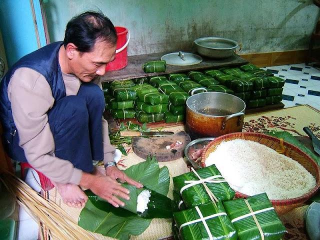 Banh chung - Tet Festival Vietnam