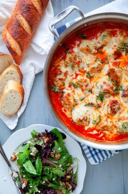 Cooking Preparation: Baked Chicken Parmesan Meatballs in Tomato Cream ...