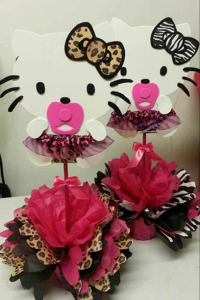 Adriana 39 s creations baby shower theme centerpieces for Animal print baby shower decoration ideas