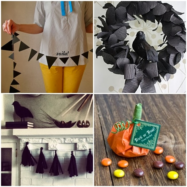 12 elegant diy vintage and shabby chic crepe paper halloween decor ideas