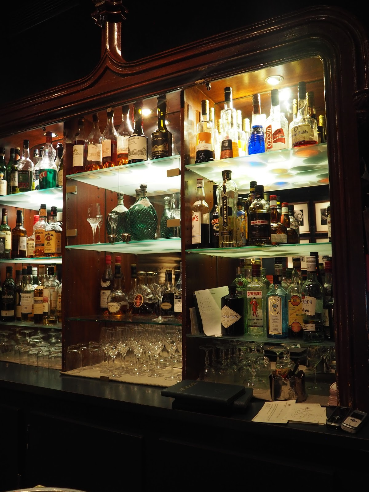 fully stocked gentleman's bar