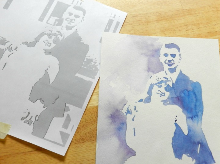 Custom Watercolor Wedding Portrait: Grow Creative