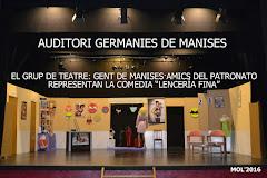 29.01.16 TEATRE PEL GRUP GENT DE MANISES-AMICS DEL PATRONATO: LENCERÍA FINA