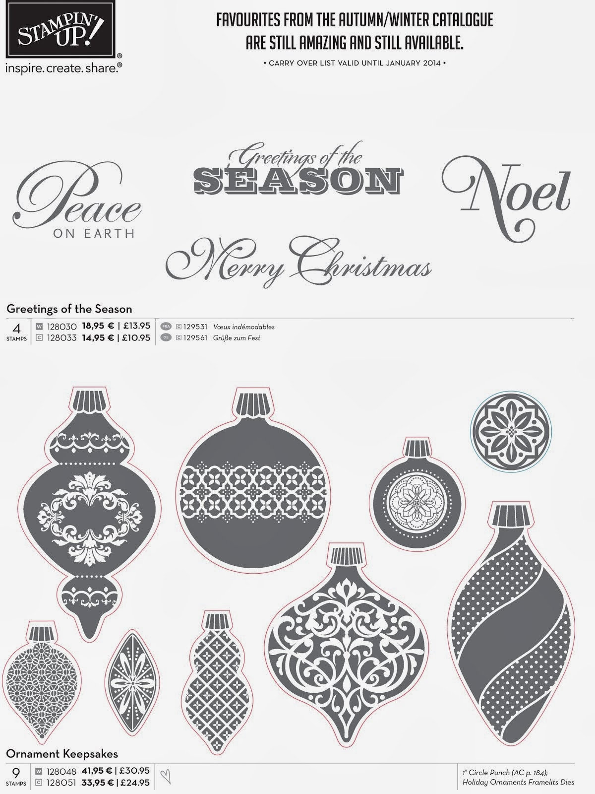 Greetings of The Season en Ornament Keepsakes