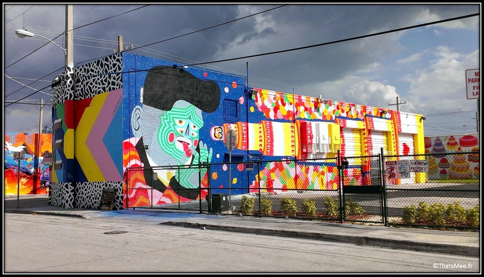 Kashink women street artist Miami Floride Art Basel Wynwood walls, Miami Art Basel 2013