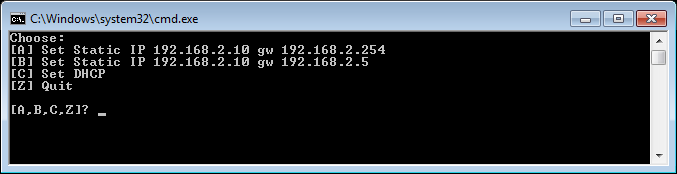 Script de CMD para cambiar la IP del equipo