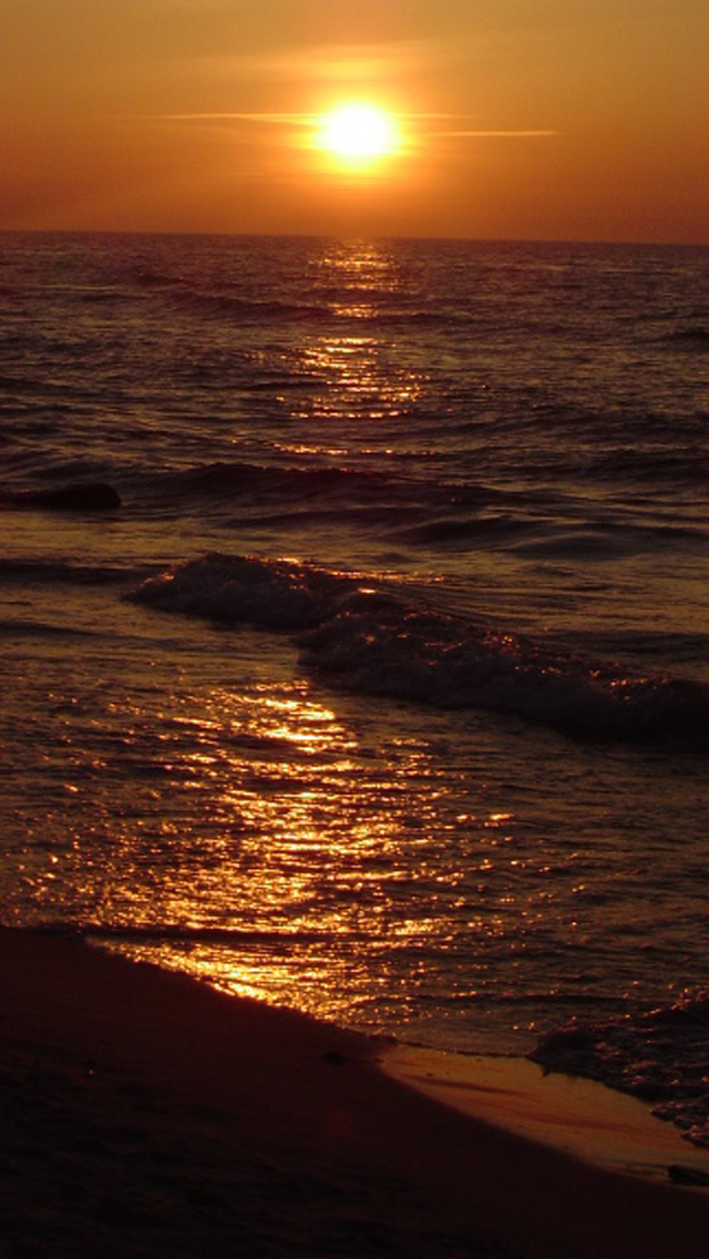 Free download ocean beach sunset hd iphone 5 wallpapers - Sunset iphone background ...