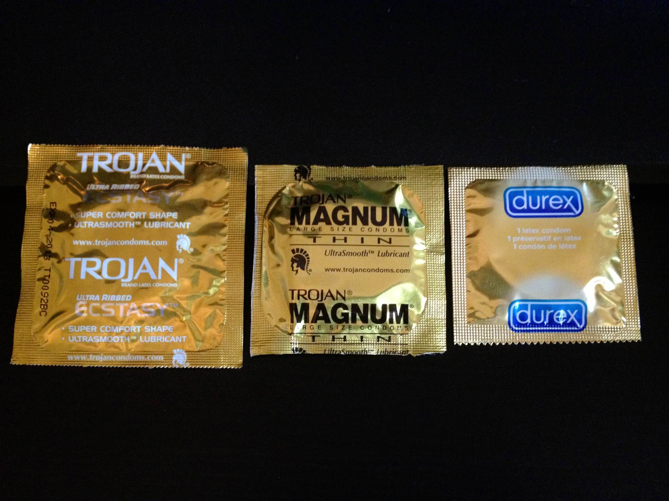 Condoms on spermicidal lubricants