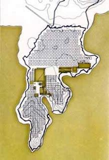 Plano de mileto. Hipodamo de mileto. Urbanismo en Grecia. Desarrollo de la ciudad en grecia clasica. Grecia.