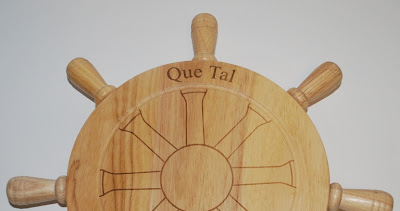 Boat name cheese board and tool set