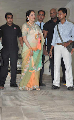 Hema Malini at Esha-Bharat Mehendi Ceremony
