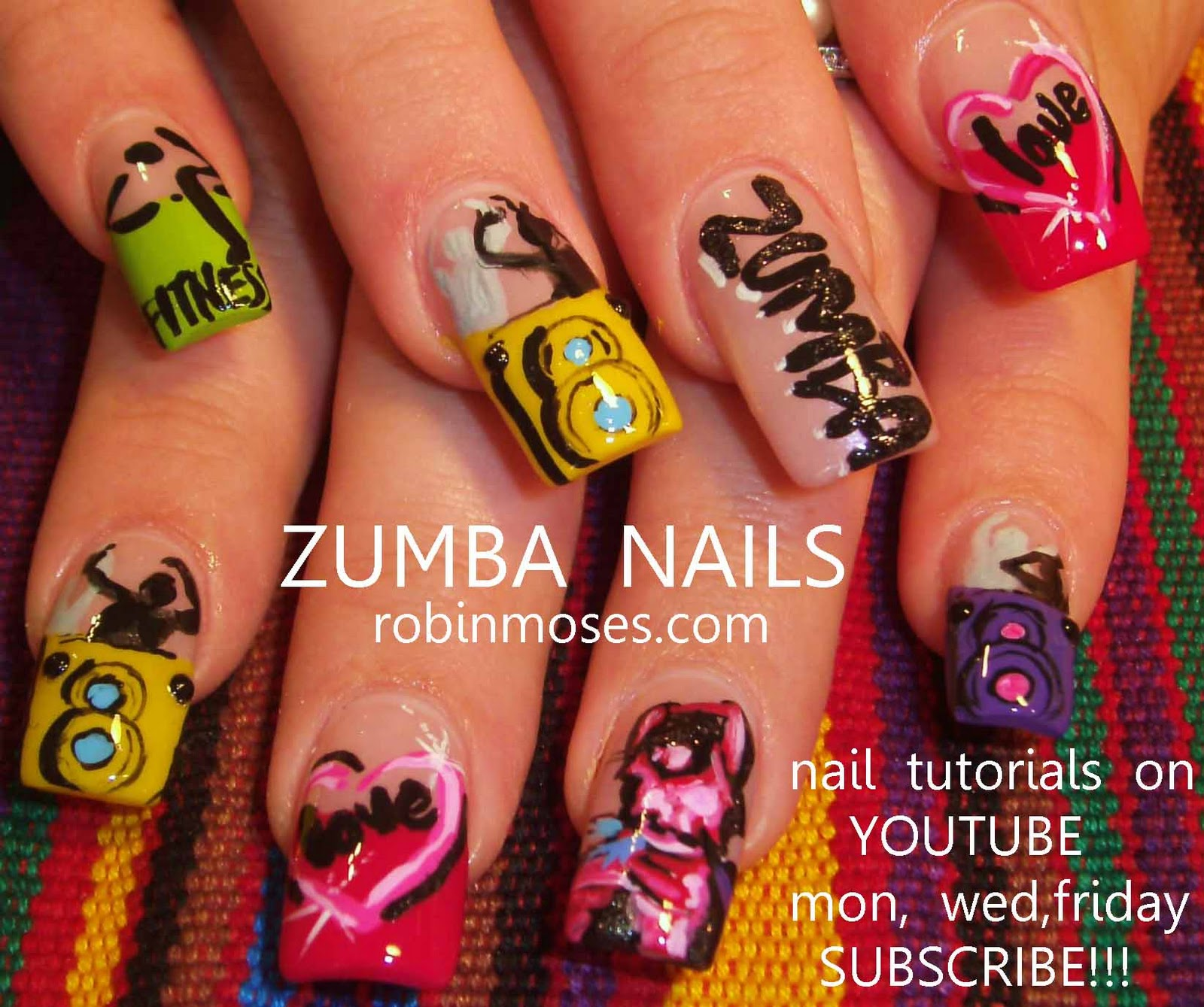 Oval nails zumba nails zumba dance design your own nail art