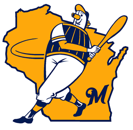 Image result for milwaukee brewers barrel man logo