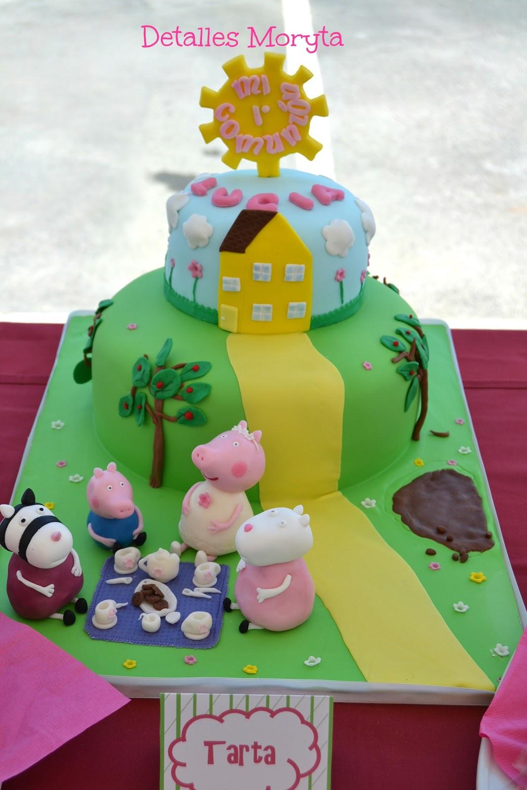 Detalles moryta tarta de peppa pig para la comuni n de luc a - Peppa pig la casa del arbol ...