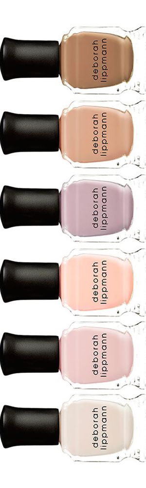 Deborah Lippmann Undressed 6-Piece Nude Nail Polish Set, 8 ml each