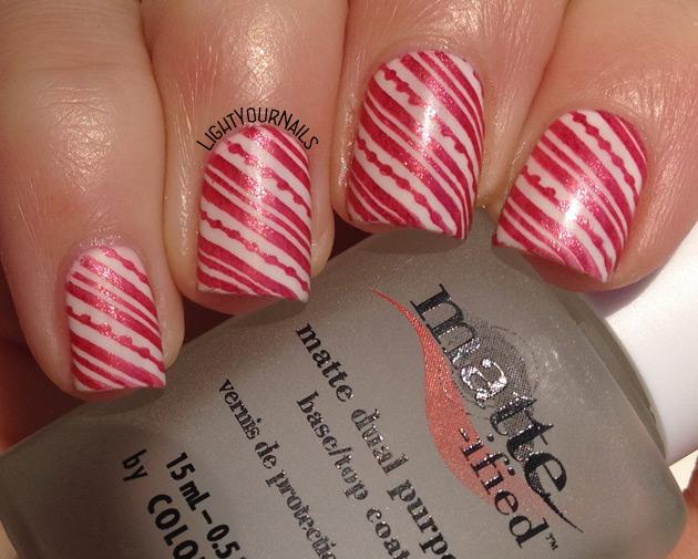 Christmas nail stamping