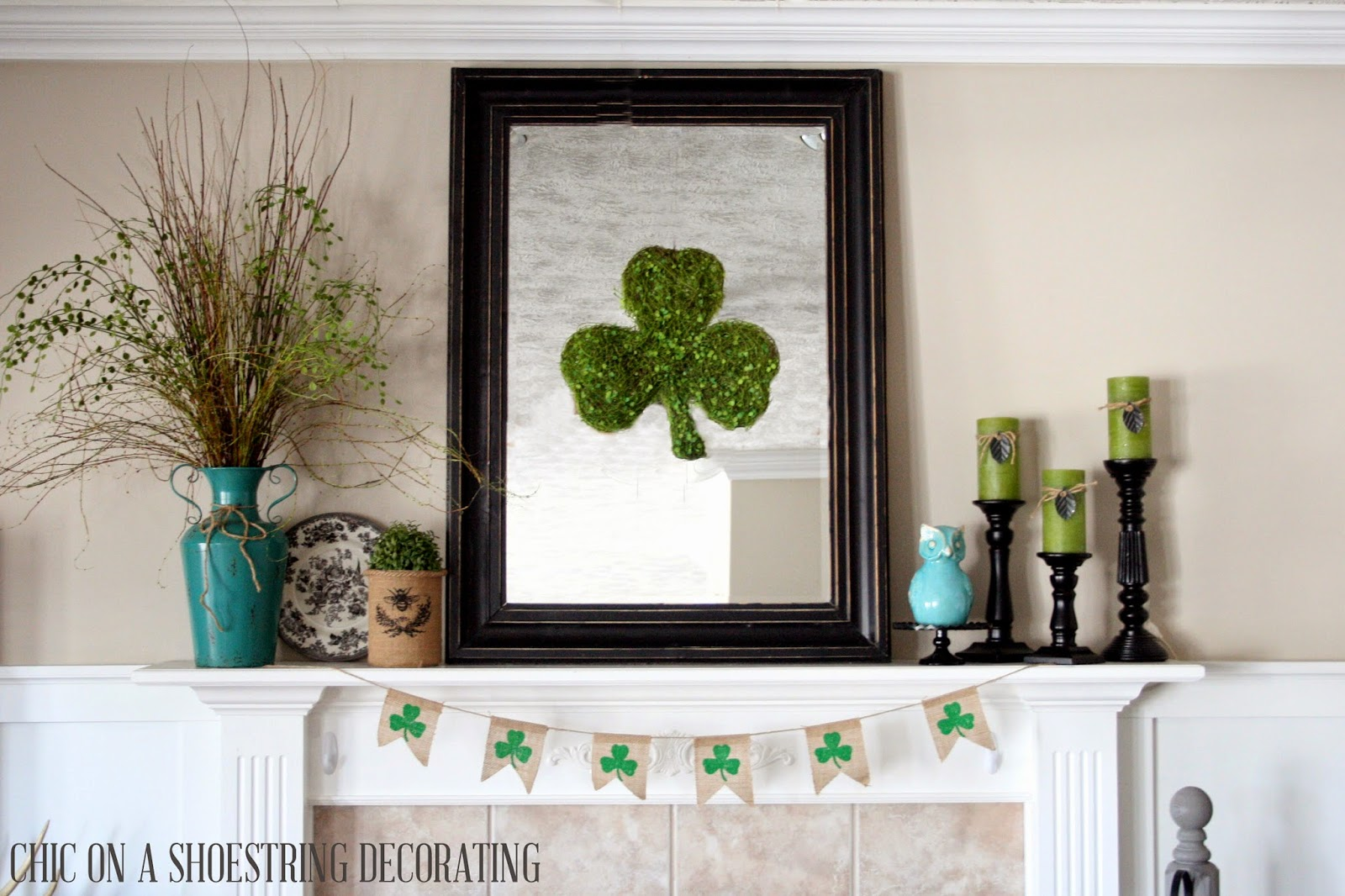 Chic on a shoestring decorating easy st patrick 39 s day decor for St patrick s day home decorations