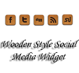 Wooden+Style+Social+Media+Widge