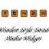 Wooden Style Social Media Widget For Blogger