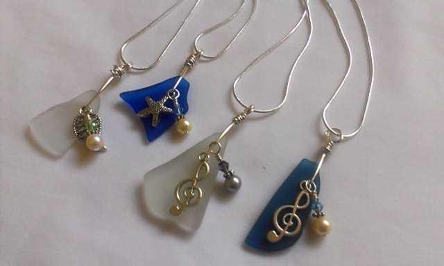 Off these beach glass necklaces a couple of these will also go to the