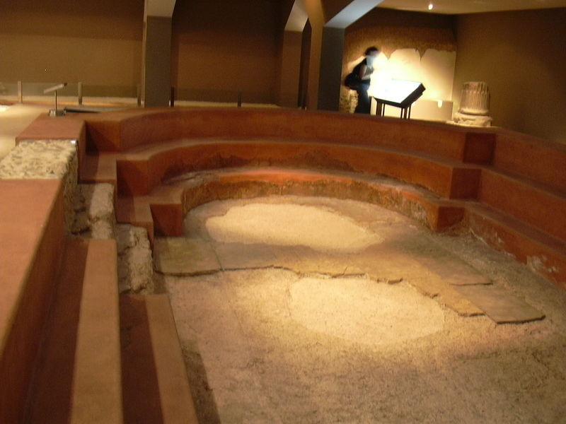 Baño De Vapor Romano:Piscina de los baños romanos de Zaragoza