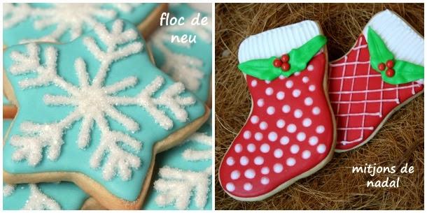 galeta de nadal, galleta de navidad, galeta decorada de nadal, galleta decorada de navidad, galeta floc de neu, galleta copo de nieve, galeta mitjó de nadal, galleta bota de navidad, galleta calcetín de navidad