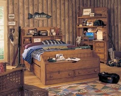 DORMITORIOS RÚSTICOS - DORMITORIOS JUVENILES CON ESTILO RUSTICO vía http://dormitorioinfantil.blogspot.com/