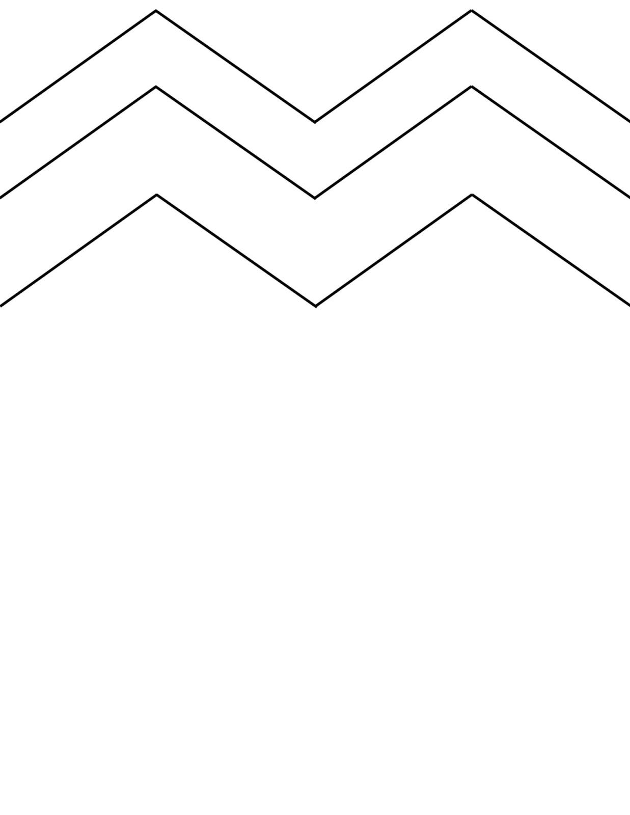 chevron pattern template printable - HD1237×1600