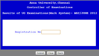 UG Examination(Mark System) may/june 2012
