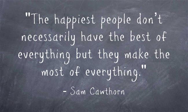 Người hạnh phúc nhất không cần có những thứ tốt nhất