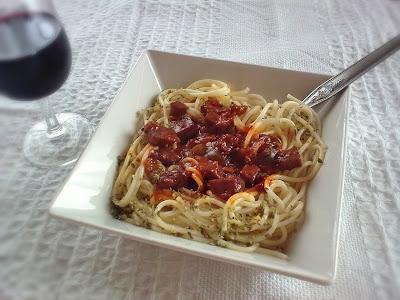 Espaguetis con Seitan