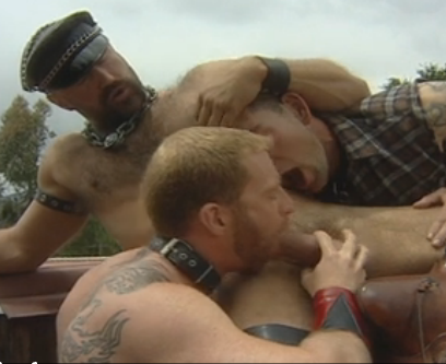 3 putos fazem sexo no mato