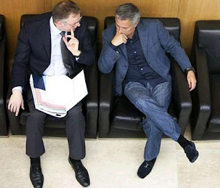 Mourinho and his lawyer at the UEFA heeadquarters