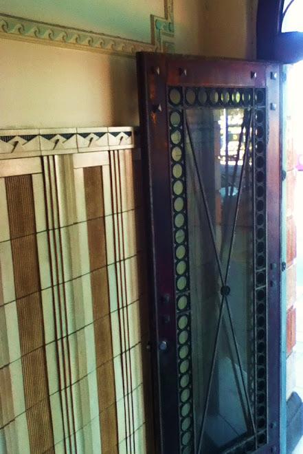Atlas Building doorway and Terracotta tiling