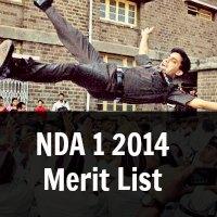 NDA 1 2014  Merit List